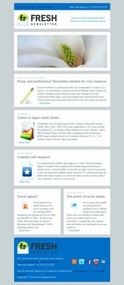 Outlook Newsletter Template Create Email E Templates