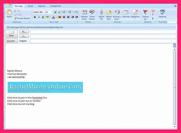 Outlook Signature Template