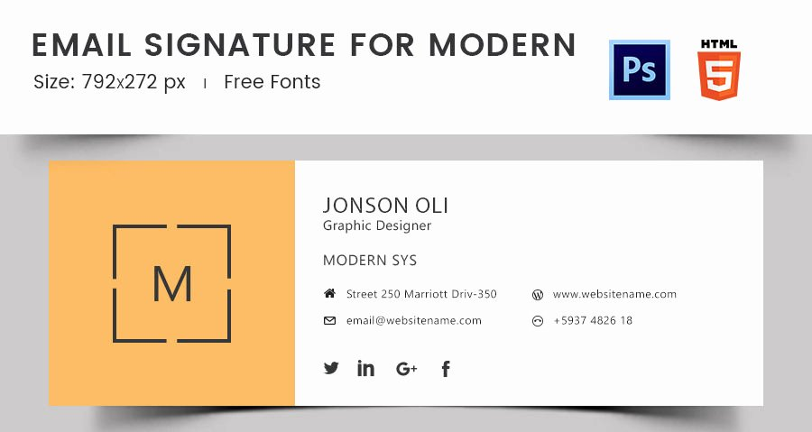 Outlook Signature Templates