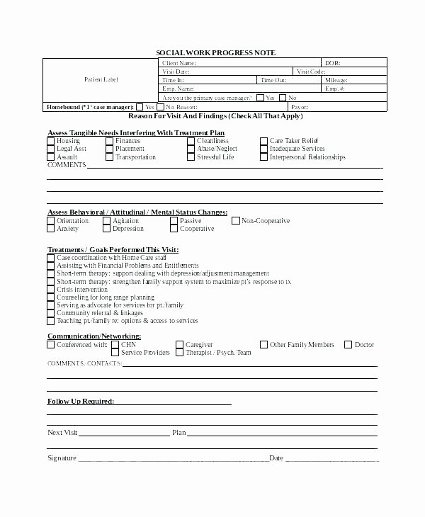 Outpatient Progress Note Template soap Notes Example