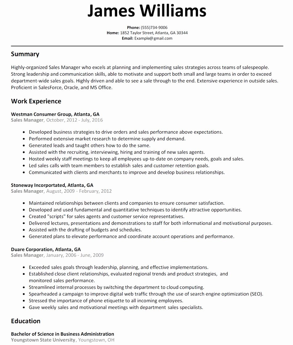 Outside Sales Resume Examples Sarahepps