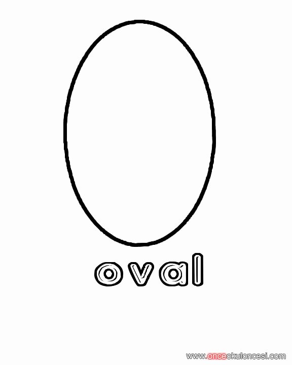 Oval Coloring Page