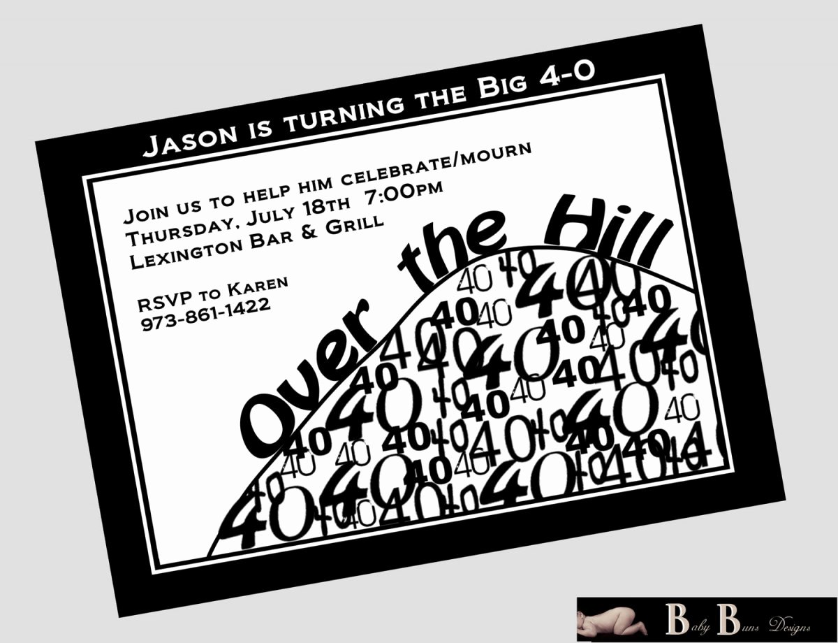 Over the Hill Birthday Invitations