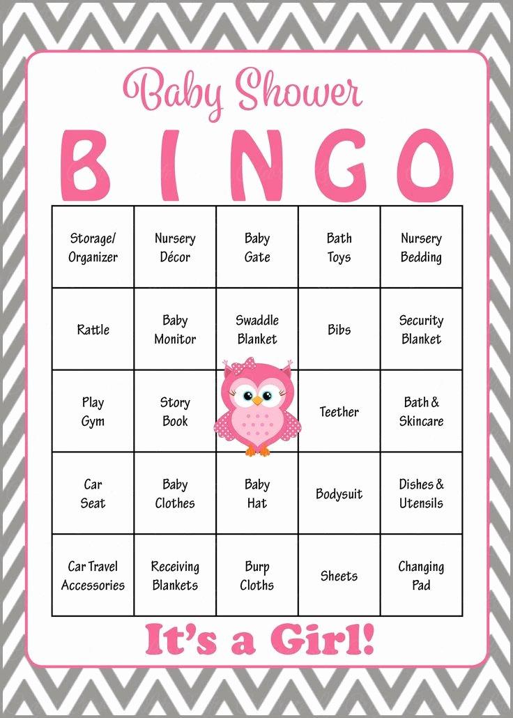 Owl Baby Bingo Cards Printable Download Prefilled