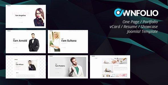 Ownfolio – E Page Personal Portfolio Vcard Resume