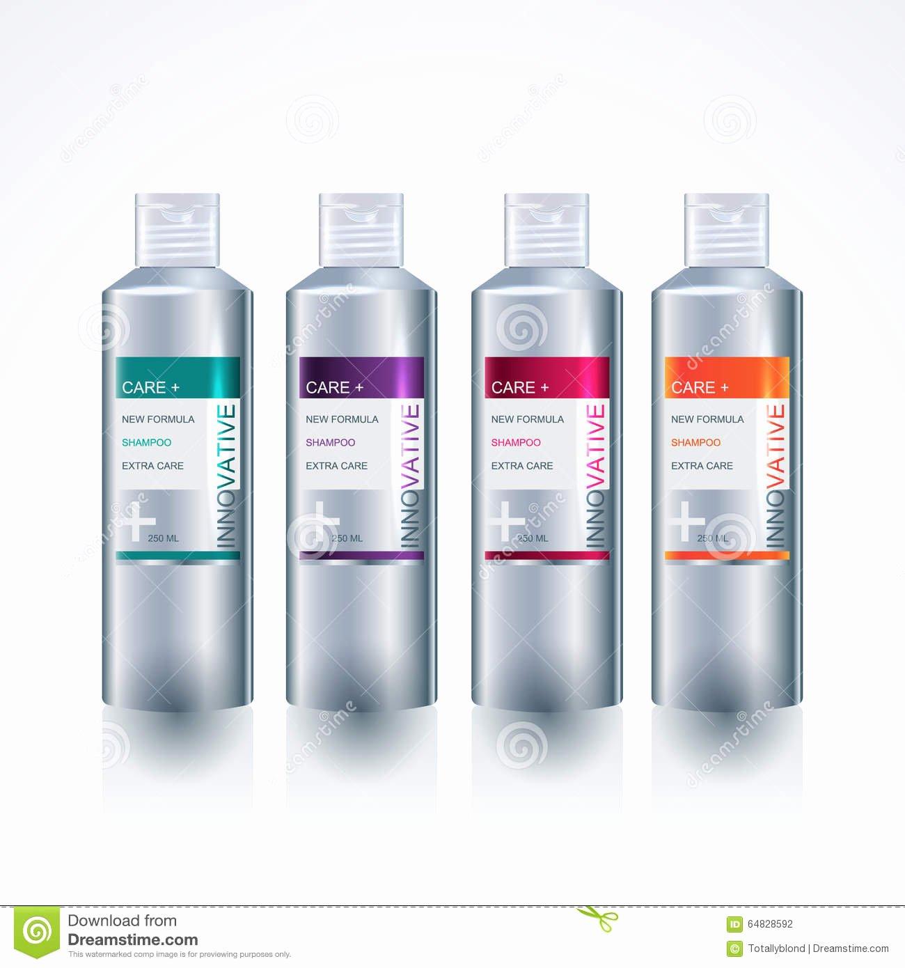Packaging Design Template for Body Care Bottle Stock
