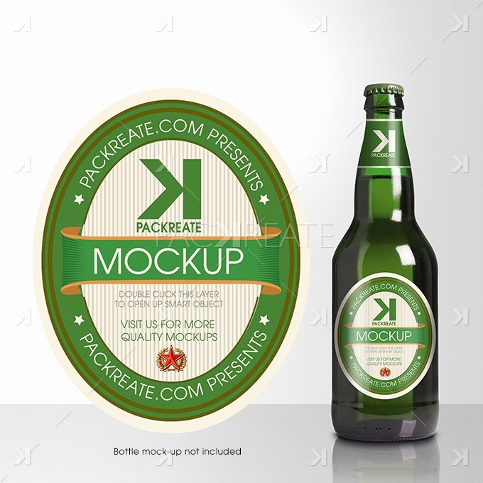 Packreate Beer Bottle Label Psd Template