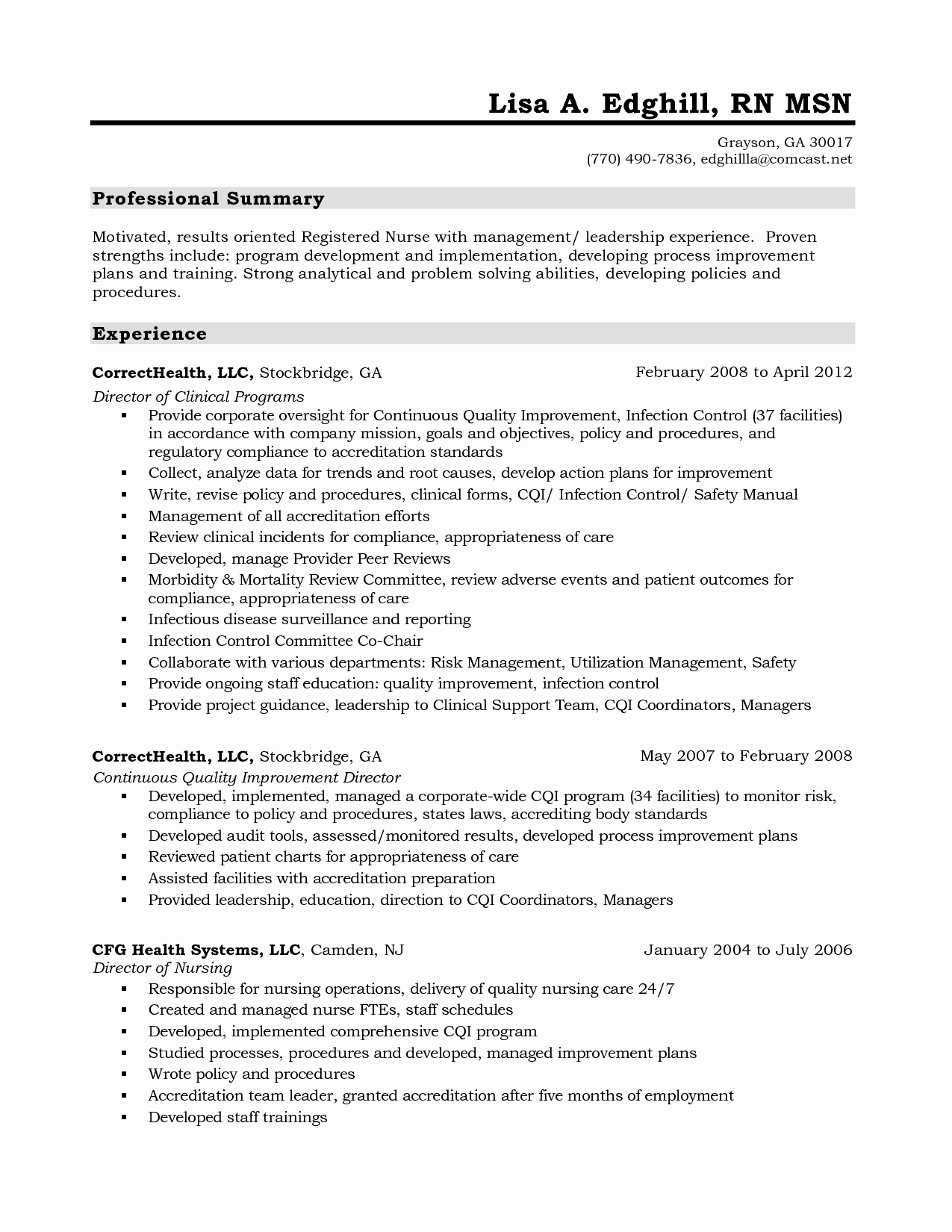 Pacu Registered Nurse Resume Sidemcicek