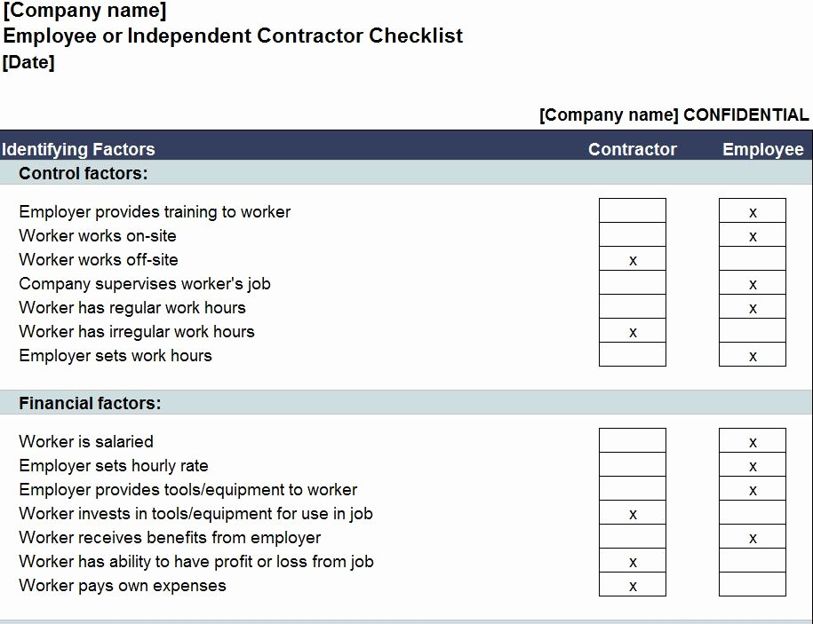Page Templates General Contractor Checklist Template