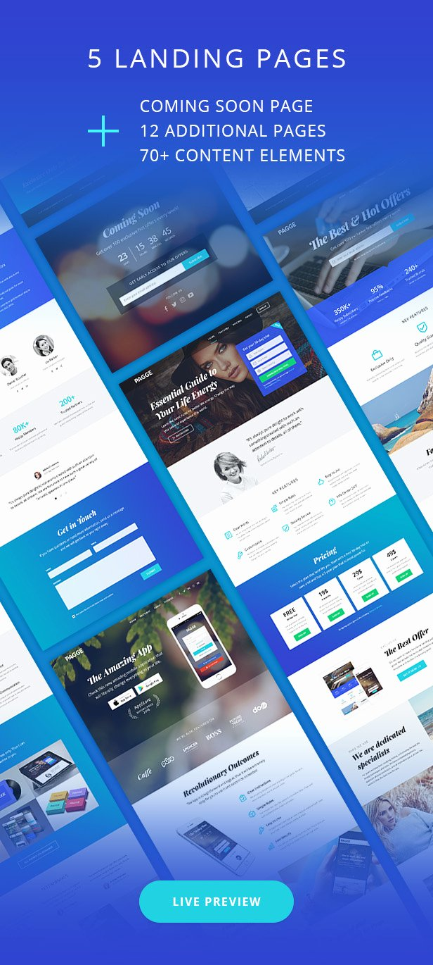Pagge Landing Page HTML Templates Landing Pages