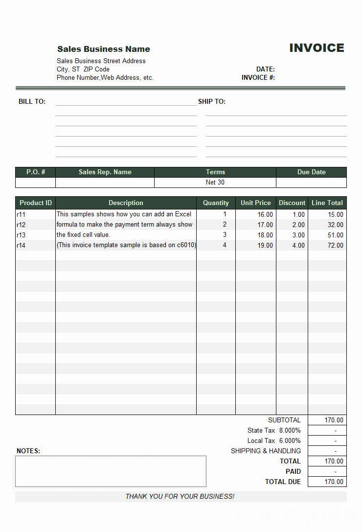 Paid Invoice Template Receipt Word Example Email Cash