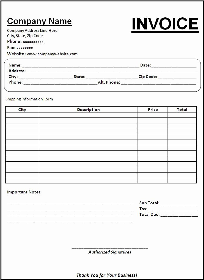 Paid Invoice Template Word