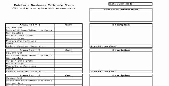 Paint Estimate Sheet How to Have A Fantastic Paint Estimate