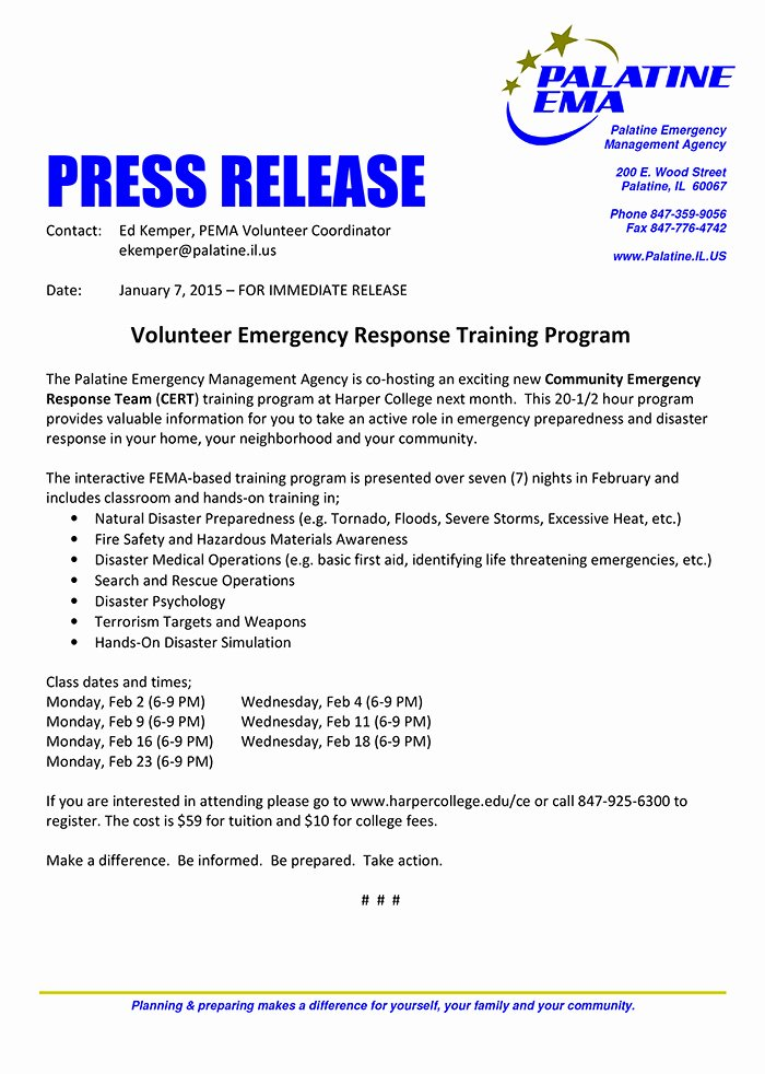 Palatine Ema Offers Cert Training Chicagoareafire