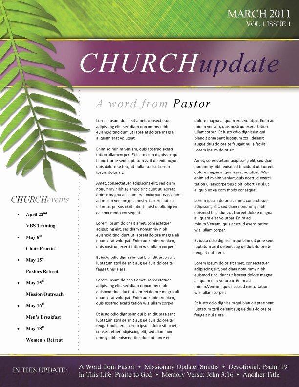Palm Sunday Church Newsletter Template Template