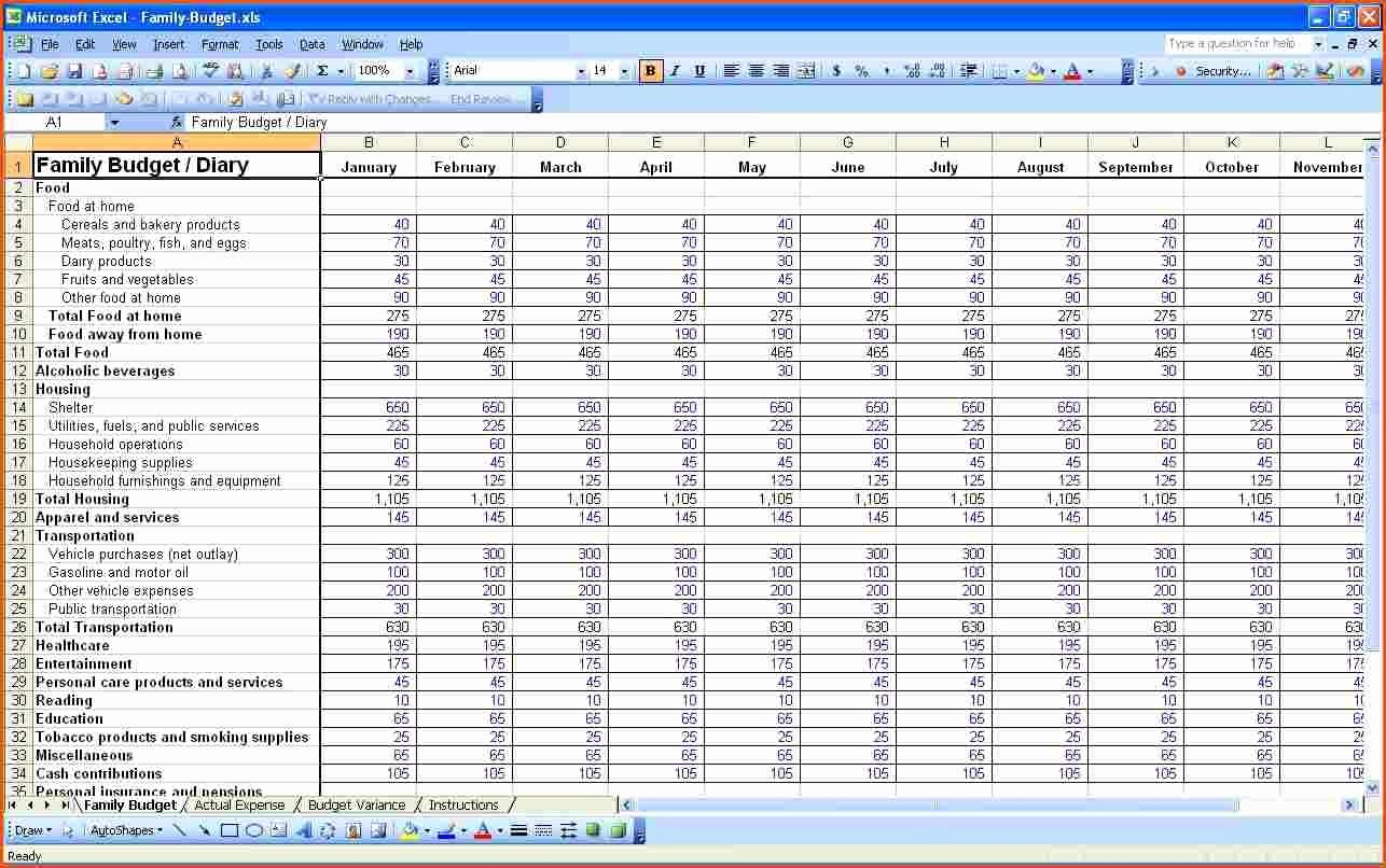 P&l Spreadsheet Template Spreadsheet Templates for Busines