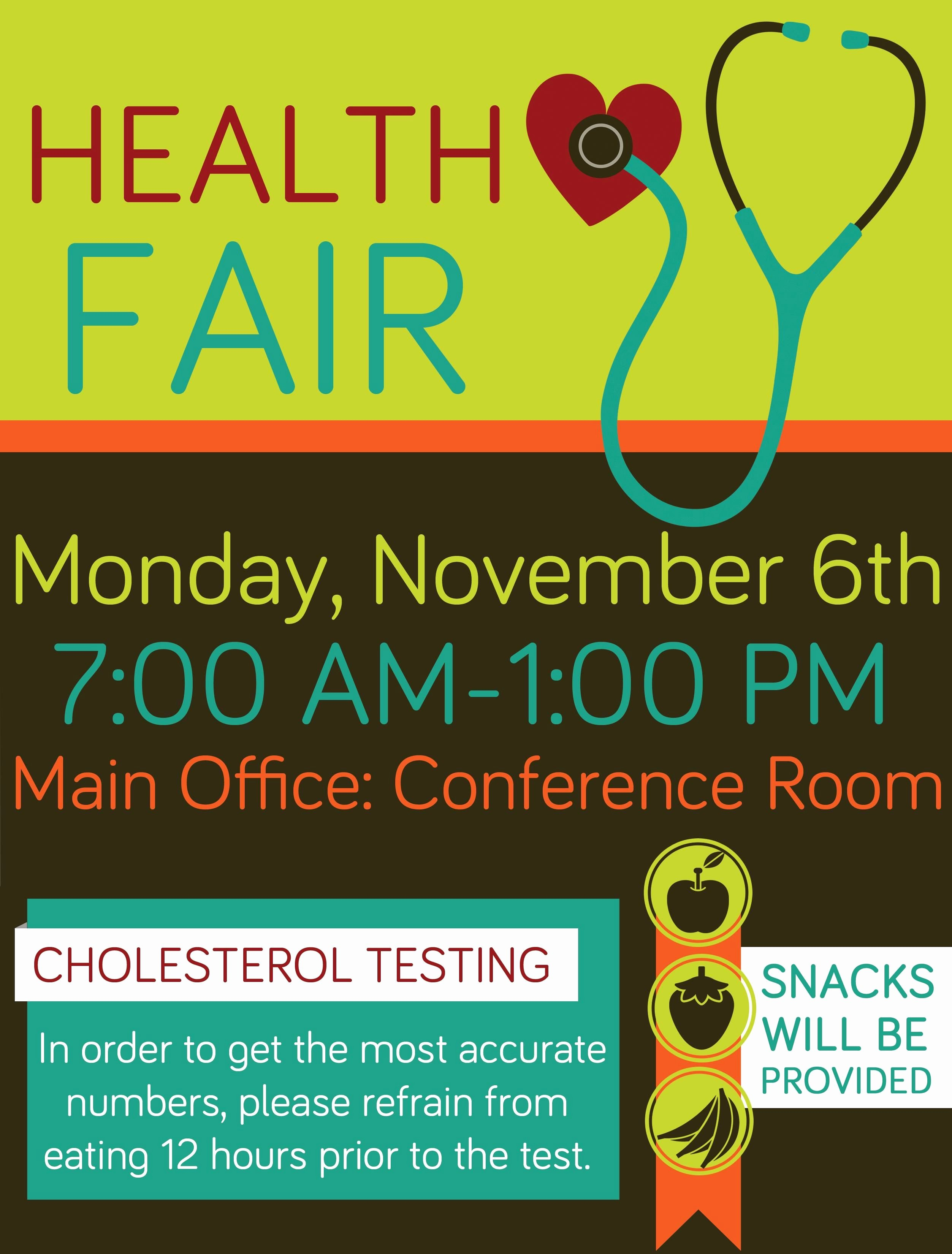 Pany Health Fair Flyer Graphic Design School Health