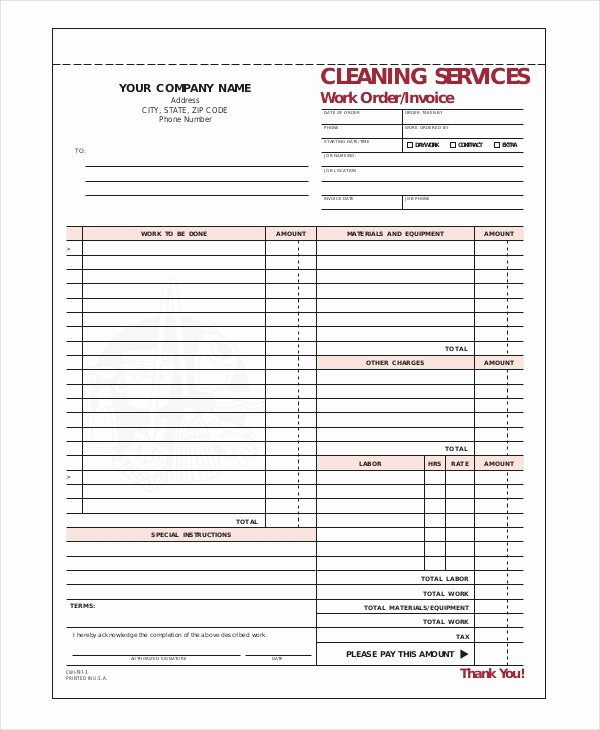 Pany Invoice Template 5 Free Word Excel Pdf