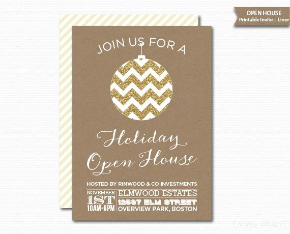 Pany Open House Invitation Printable Christmas Invitation