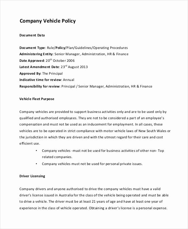 Pany Policy Template 10 Free Pdf Documents Download