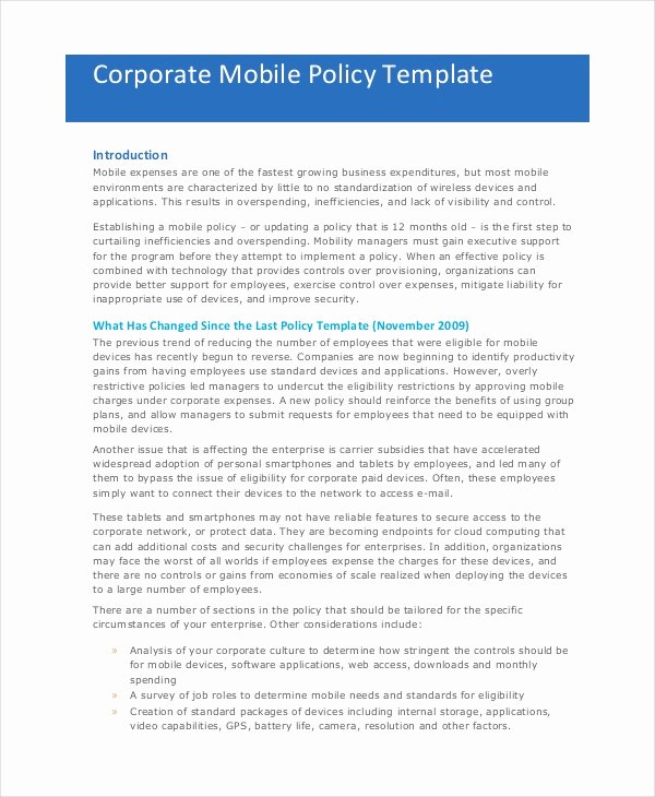Pany Policy Template 14 Free Pdf Documents Download