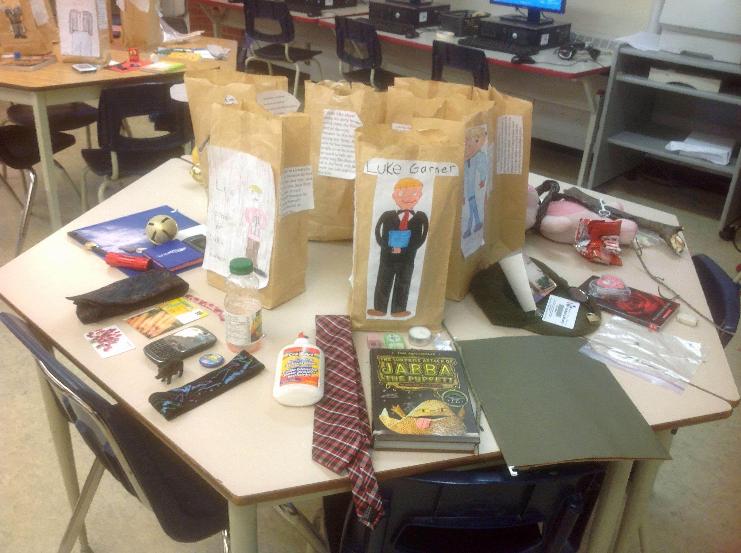 Paper Bag Character Study Book Report