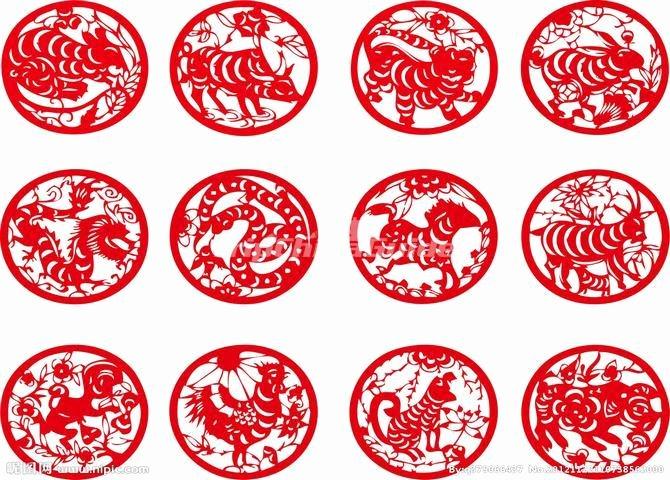 Paper Cutting Chinese Zodiac Animals Chinese Paper