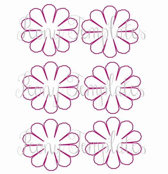 Paper Flower Printable Templates Diy Peony Paper Flowers