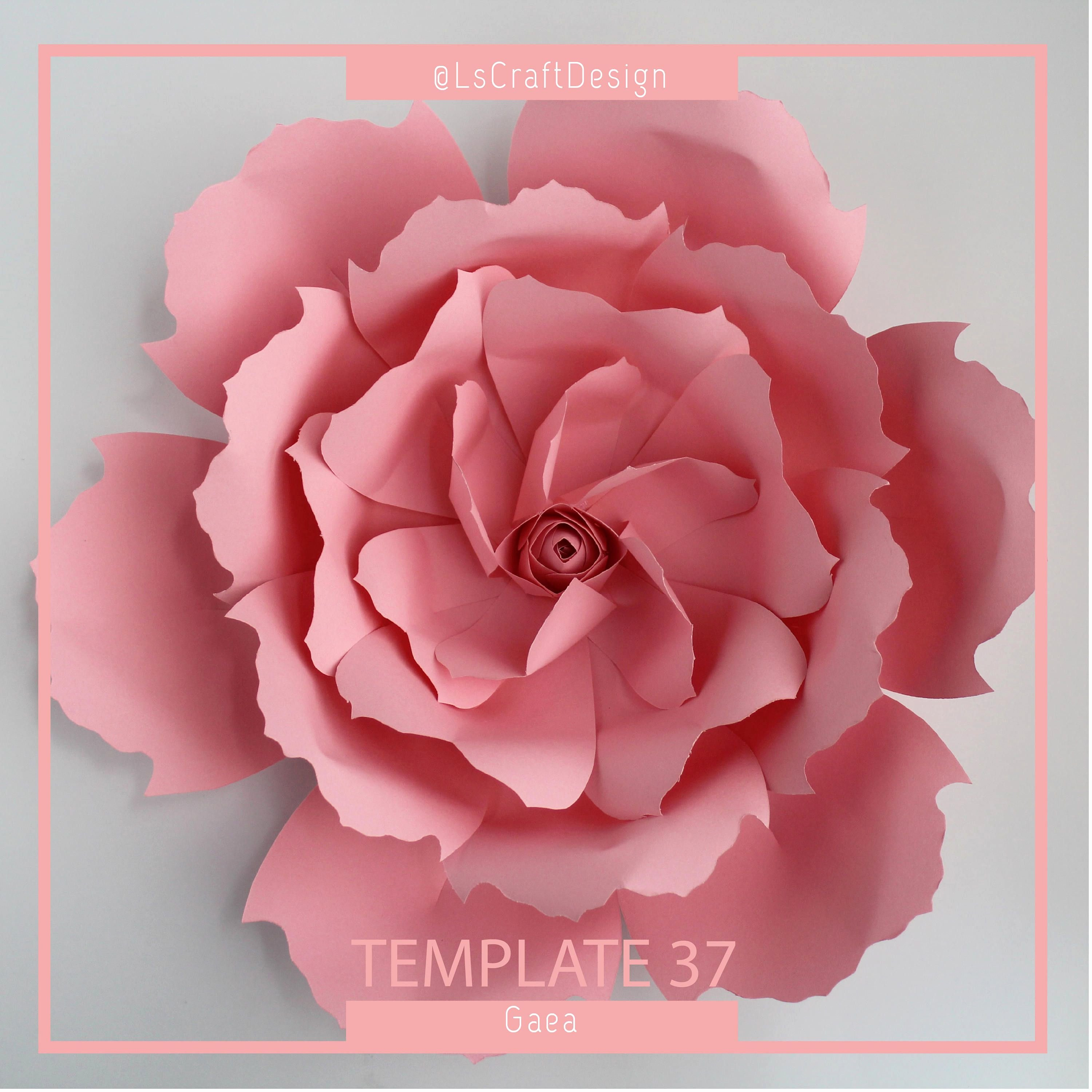 Paper Flower Template Pdf Version
