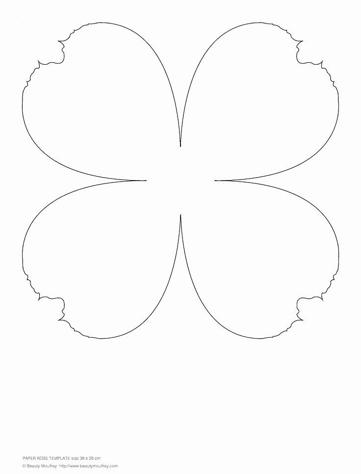 Paper Rose Template Free Download Roses 18 Pdf Flower Daun