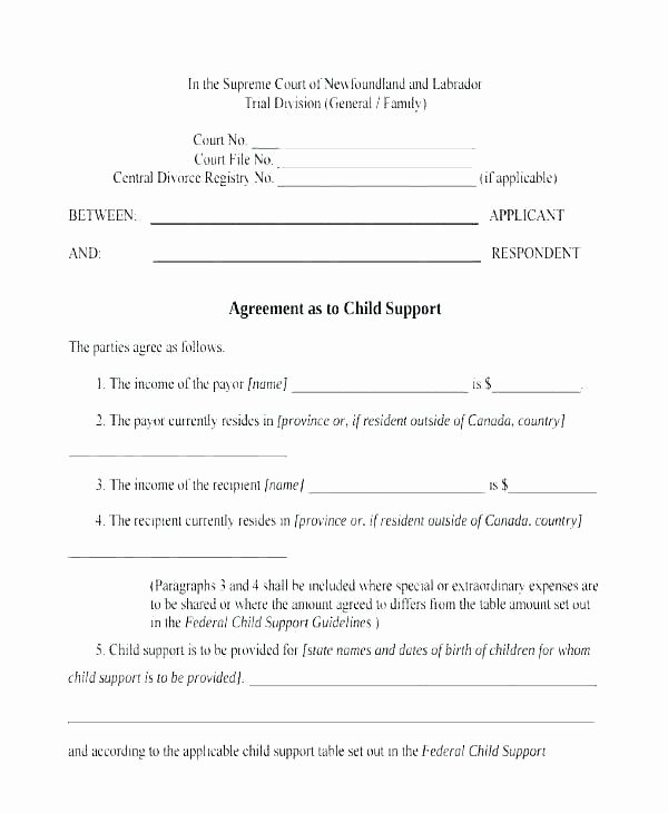 Parenting Agreement Templates 8 Free Documents Download