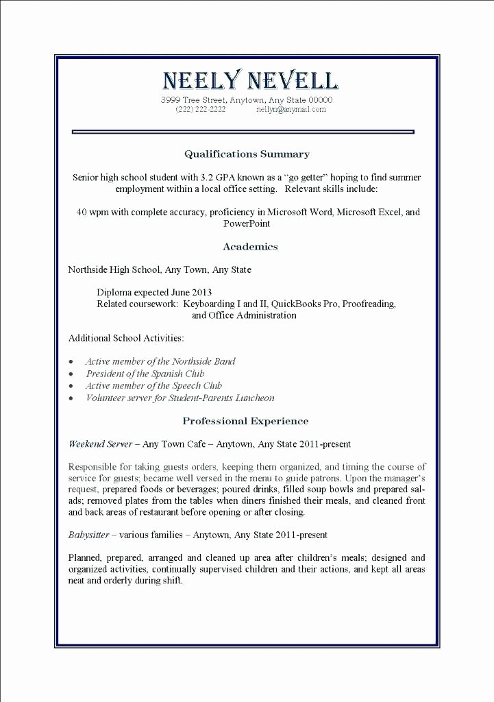 Part Time Job Resumes Examples