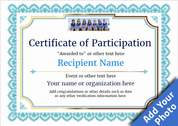 Participation Certificate Templates Free Printable Add