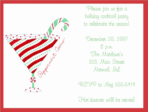 Party Invitation Templates Christmas Cocktail Party