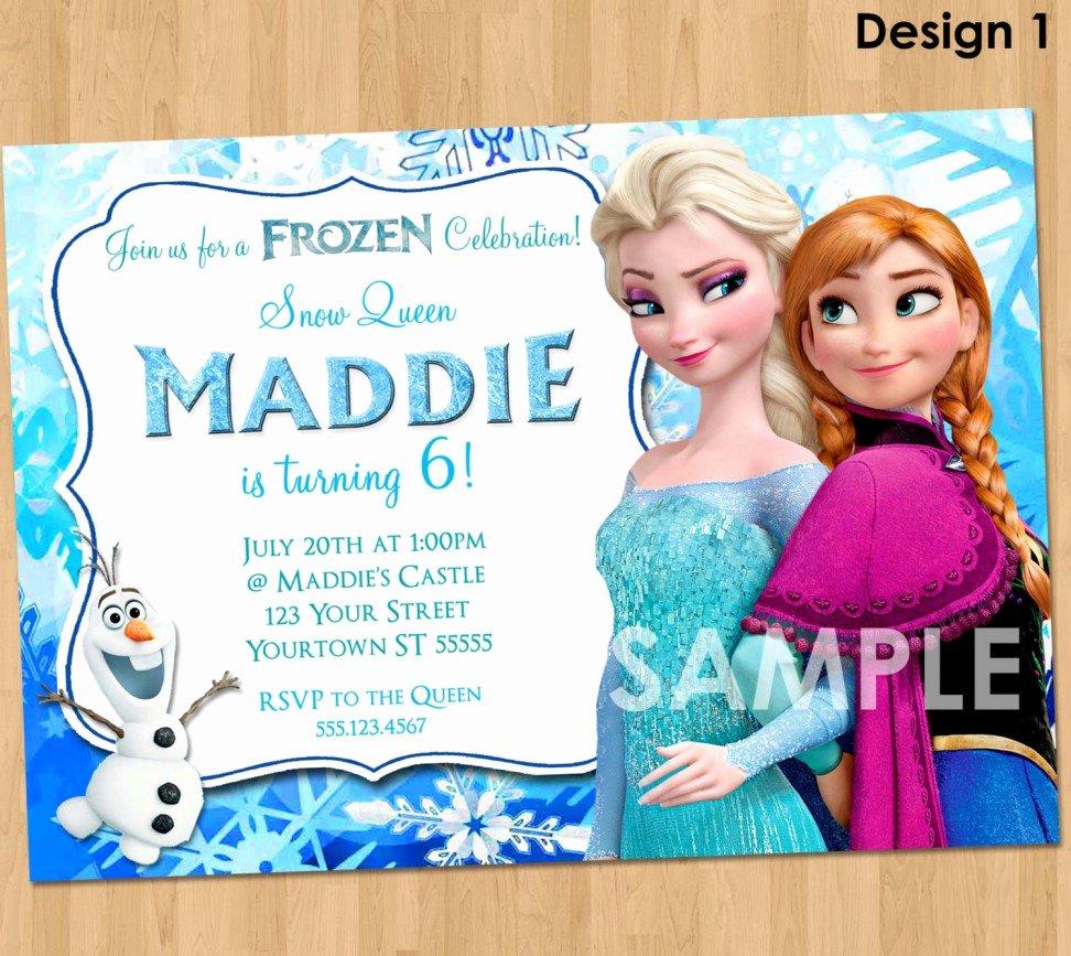 Party Invitation Templates Frozen Party Invitations