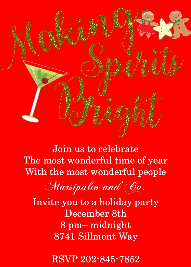 Party Invitation Templates Pany Christmas Party
