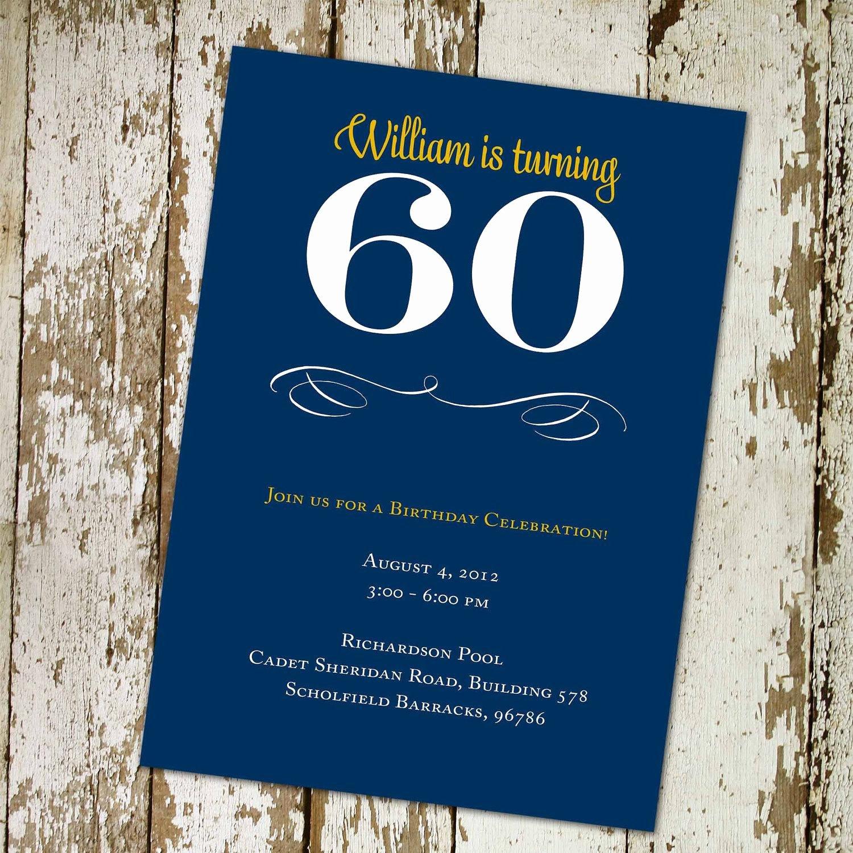 party invitation templates 60th birthday