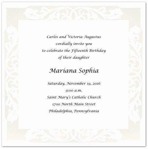 Party Invitation Templates Quinceanera Invitations Wording