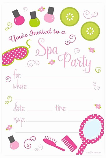 Party Invitation Templates Spa Party Invitations