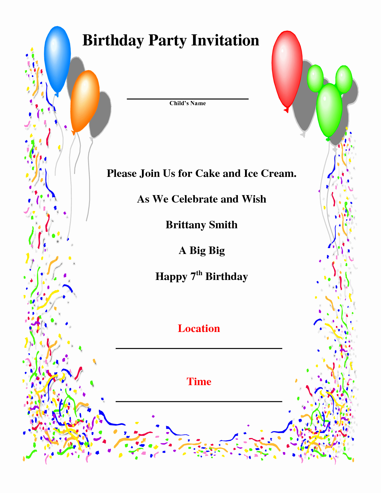 Party Invitations 10 top Design Birthday Party Invitation