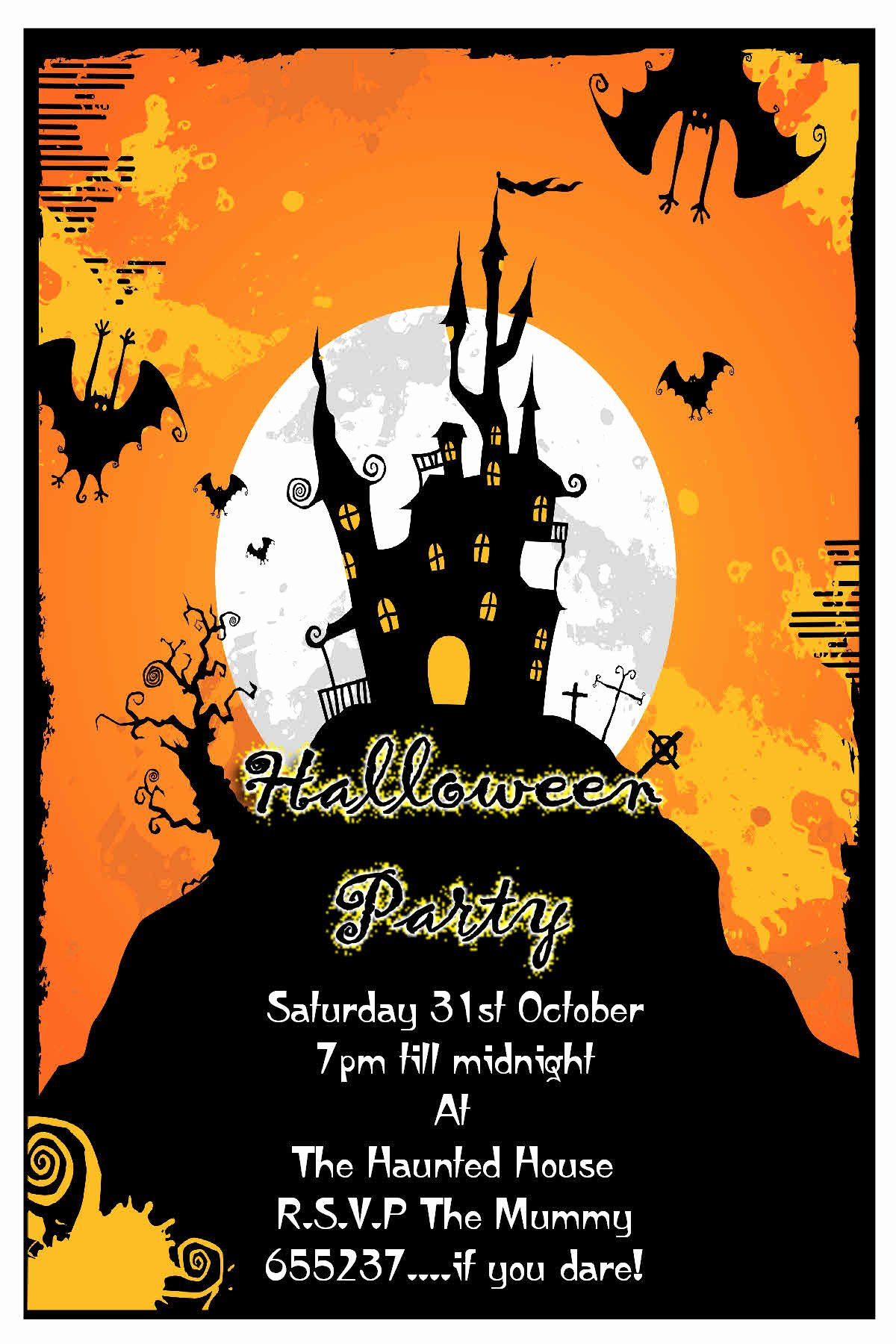 Party Invitations Awesome Design Halloween Party Invite