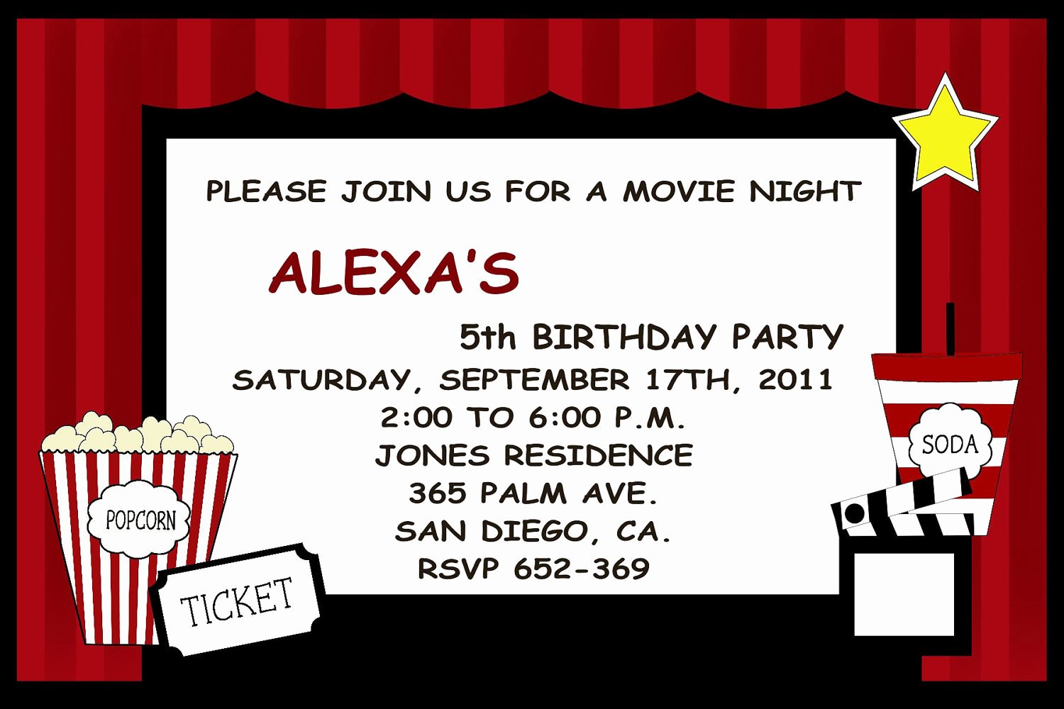 Party Invitations Best Movie Party Invitations Detail