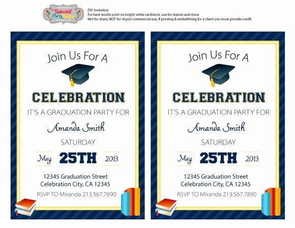 Party Invitations Free Printable Graduation Party