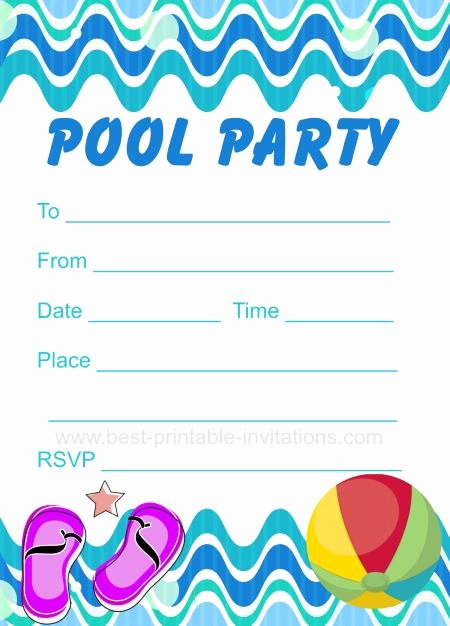 printable pool party invitations gallery images