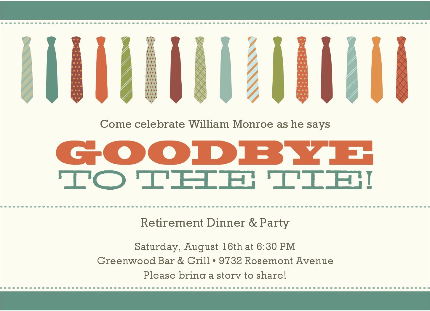 Party Invitations Retirement Party Invitatons Goodbye