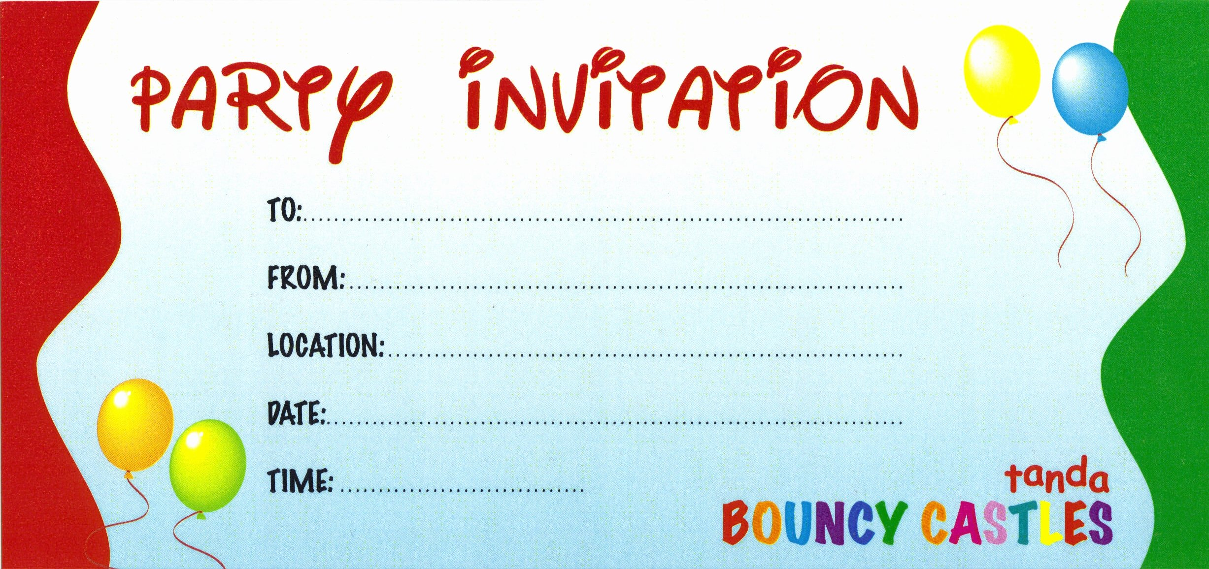 Party Invitations Simple Party Invite Template Design