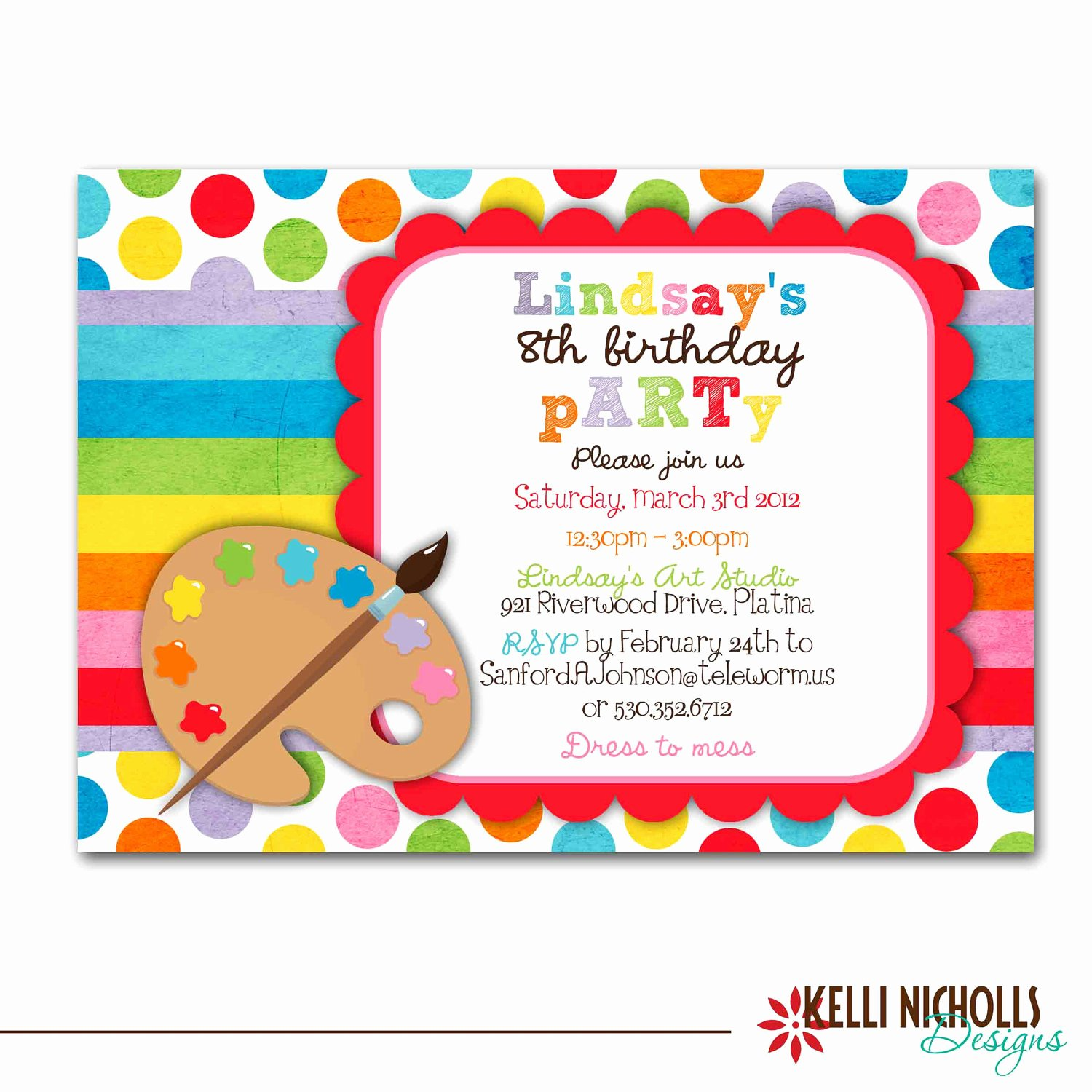 Party Invitations Very Best Art Party Invitations Art