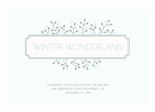 Party Invitations Winter Wonderland at Minted