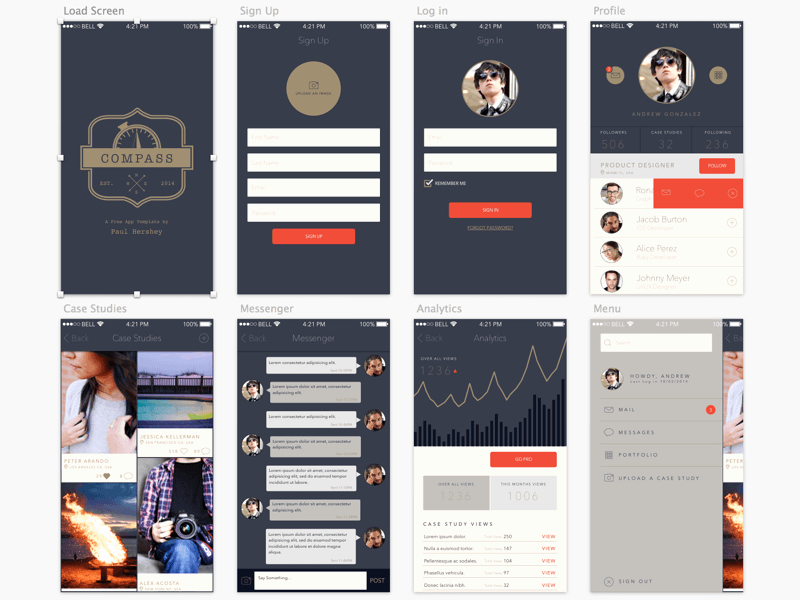 Pass A Free App Template for Sketch Sketch Freebie