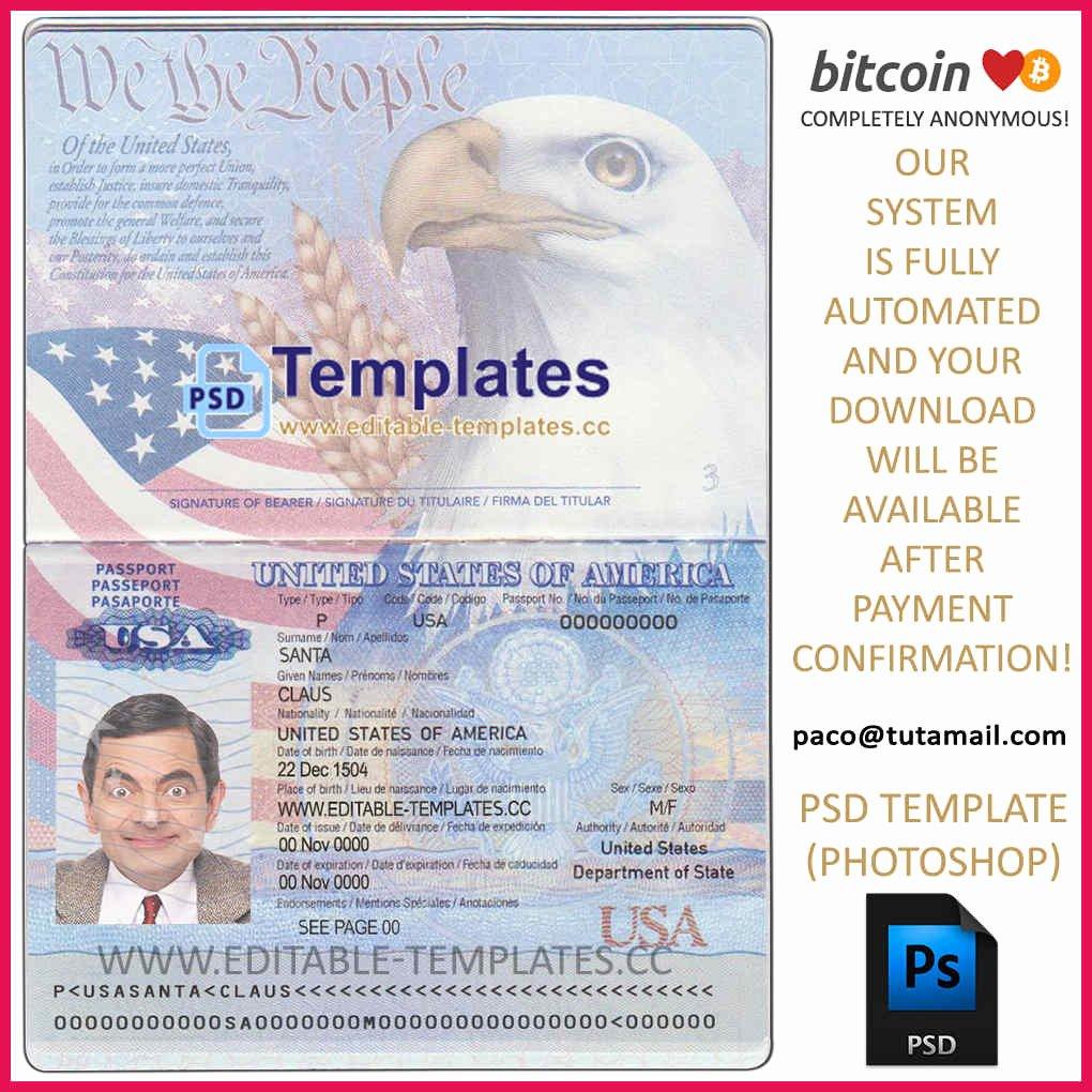 Passport Photo Template Psd